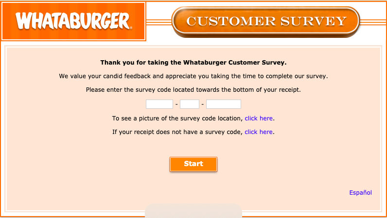 whataburger survey image