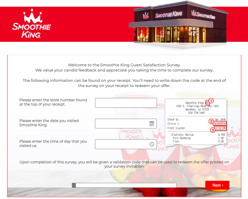 smoothie king customer survey