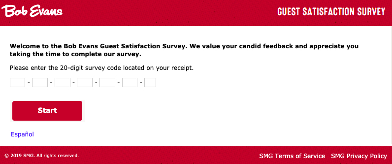 Bob Evans customer survey