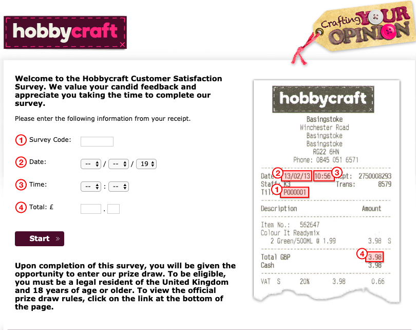 Hobbycraft customer survey image