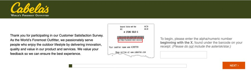How To Take The Cabelas Survey
