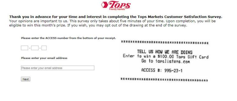 tops survey