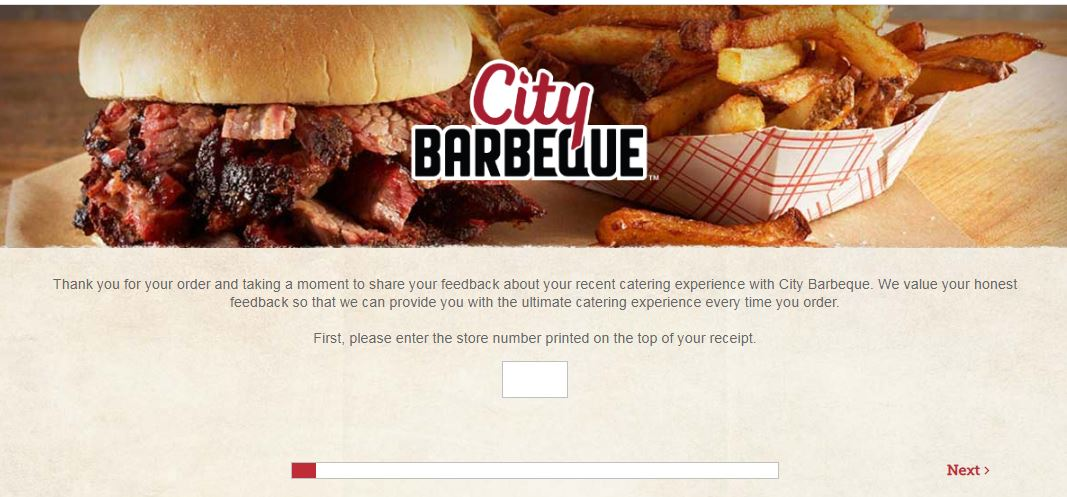 City Barbeque Survey Homepage