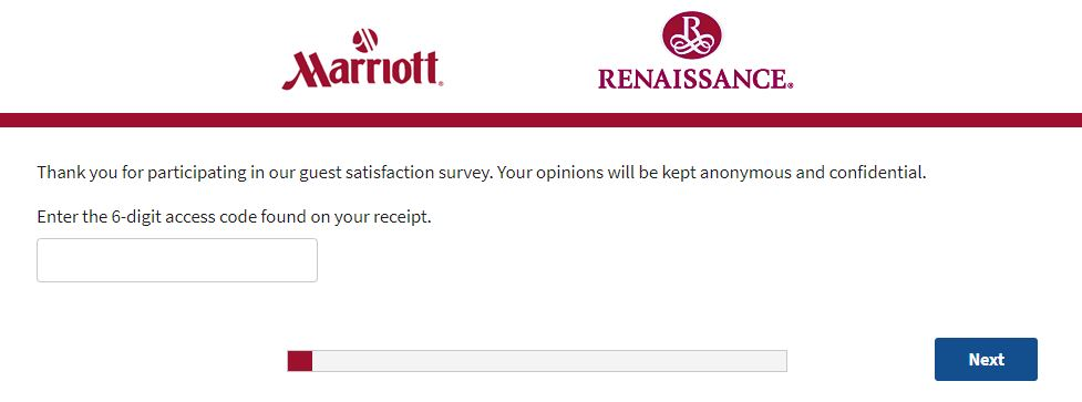 Marriott Survey Homepage