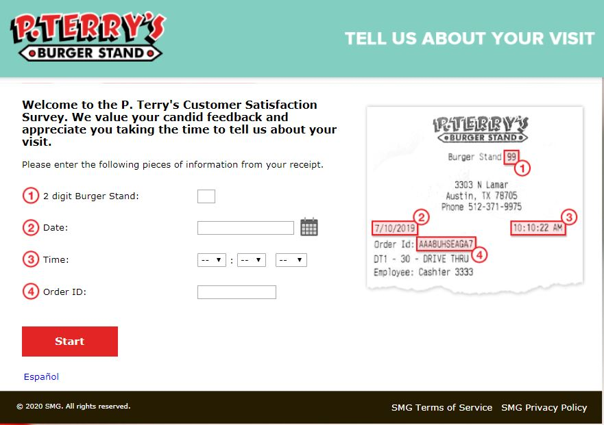P Terrys Survey Homepage
