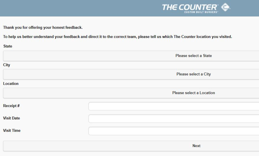 The Counter Guest Opinion Survey